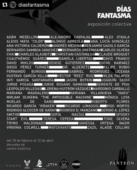 Días fantasma. Exposición colectiva